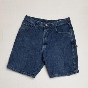 Wrangler Men Blue Denim Jean Shorts